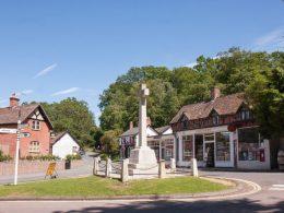 Burley village centre, New Forest