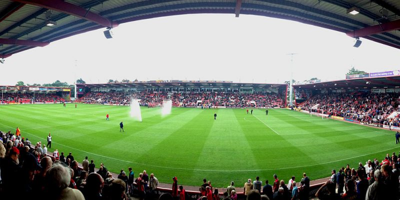 The Vitality Stadium, AFC Bournemouth vs. Blackpool, 2013. By Matthew Jackson (Own work) [CC BY-SA 3.0 (https://creativecommons.org/licenses/by-sa/3.0)], via Wikimedia Commons