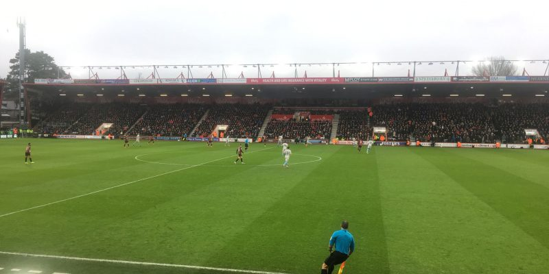 An image of AFC Bournemouth playing at home against West Ham.