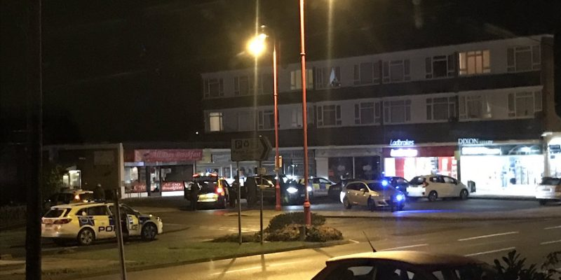 Scene of the robbery at Ladbrokes in West Moors on 16 January 2019. Photo by Chelsea @dawson_chelsea