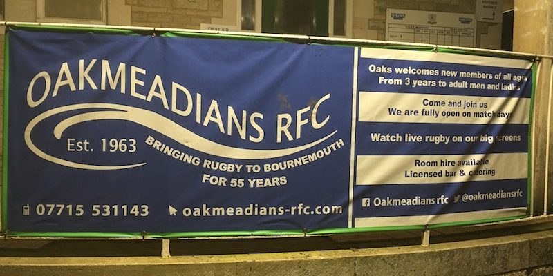 Photo of the outside of Oakmeadians RFC clubhouse in Metric Park