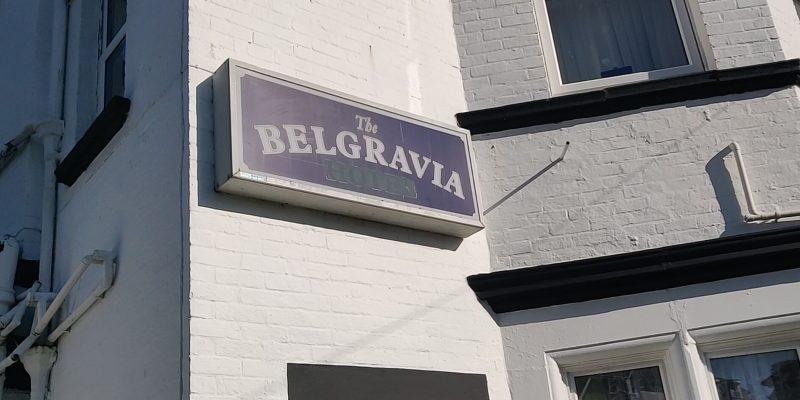The Belgravia hotel sign