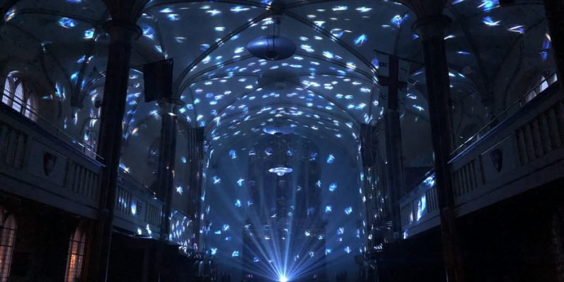 Lights display at Light Up Poole