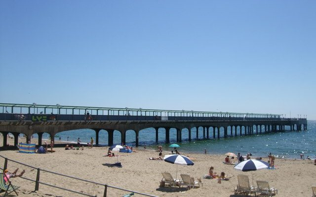 Picture of Boscombe pier and beach