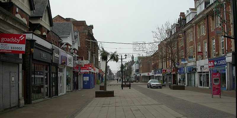 The suburb of Boscombe; Christchurch Road
