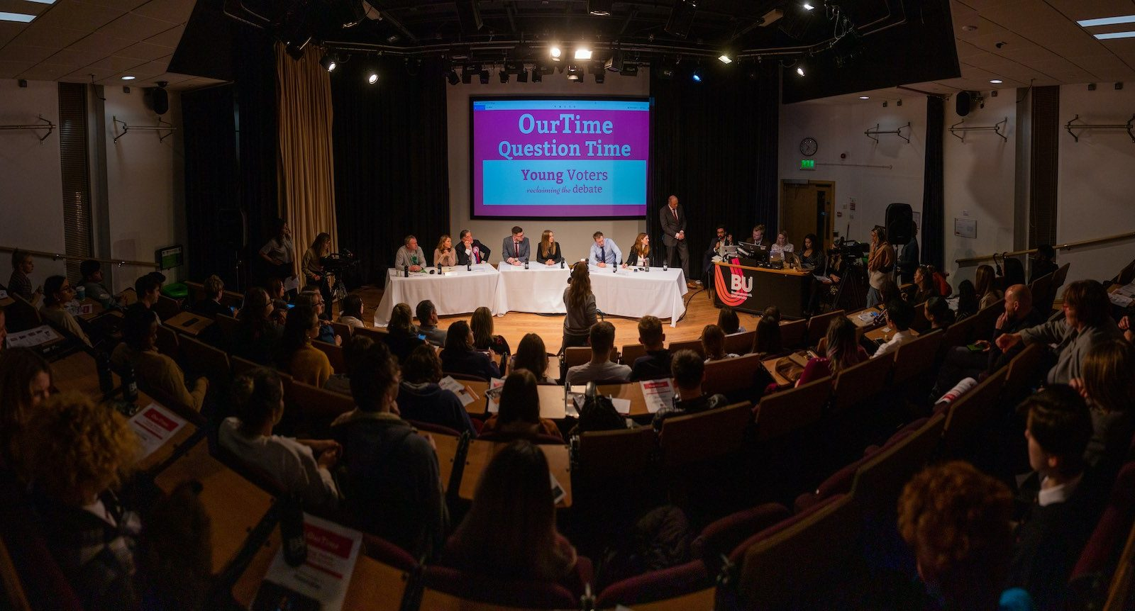 Photo from Bournemouth University's Our Time election debate