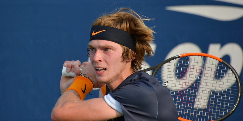 Andrey Rublev at the 2018 US Open