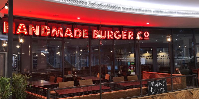 image of the handmade burger company at bh2 leisure complex