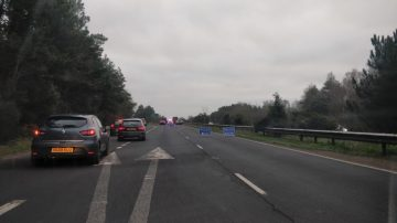 Traffic congested due to a road traffic accident heading into Poole