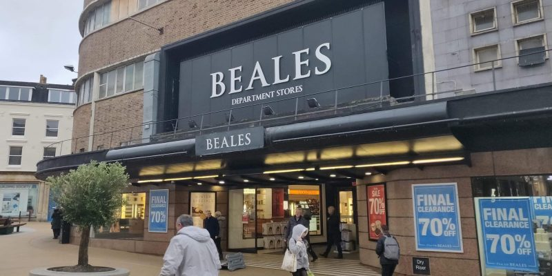 Photo of Beales department store in the centre of Bournemouth