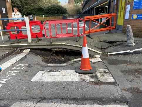 collapsed drain