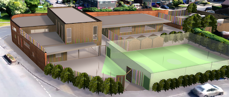 Online generated image of the proposed community hub