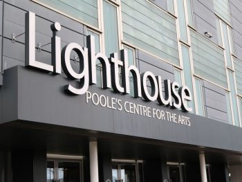 Photo of Lighthouse poole front entrance with logo