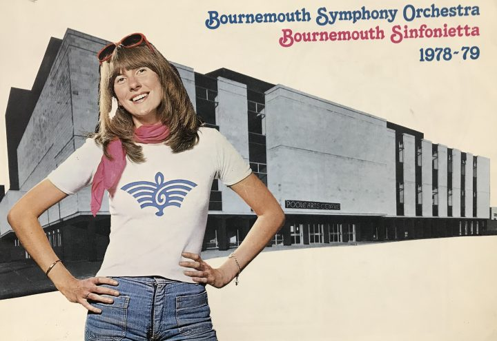 Photo of a postcard of Bournemouth Symphony Orchestra from 1978.