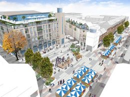 Artist impression of the proposed Boscombe Square