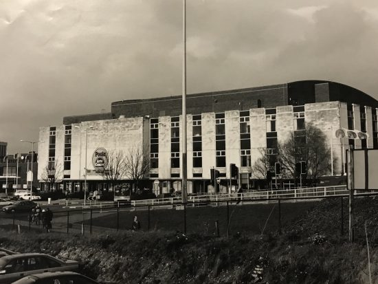Photo of the exterior of Poole Arts Centre in 1978.