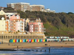 Photo of Boscombe seafront taken from the end of the pier.