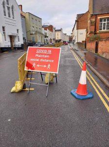 Pandemic road sign