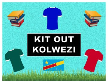 A graphic of books and football shirts
