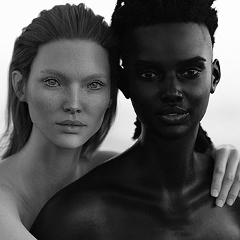 Photo of two virtual models